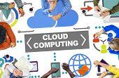 People Meeting Global Communications Cloud Computing Concept