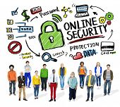Online Security Protection Internet Safety People Diversity Concept