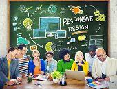 Responsive Design Internet Web Online Study Learning Concept