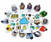 Diversity People Data Cloud Computing Brainstorming Discussion Concept