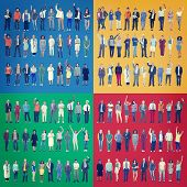 Jobs People Diversity Work Multiethnic Group Concept