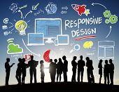 Responsive Design Internet Web Online Business Communication Concept