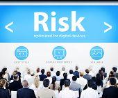 Business People Risk Web Design Concept