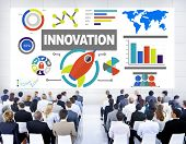 stock photo of seminar  - Business People Seminar Creativity Growth Success Innovation Concept - JPG