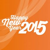 an orange background with a happy new year message
