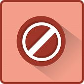 Flat Vector Stop sign icon