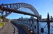 Sydney Harbour Bridge & Railings From Dawes Point Park.