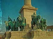 Old Photo From Heroes Square Budapest