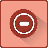 Vector minus web flat icon