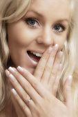 Beautiful young woman ring