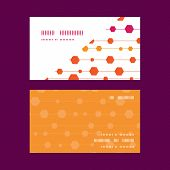 Vector abstract colorful stripes and shapes horizontal corner frame pattern business cards set