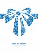 Vector blue white lineart plants gift bow silhouette pattern frame