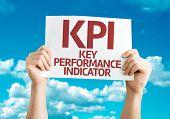 KPI card with sky background