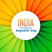 picture of indian flag  - beautiful indian flag design for 26th january republic day - JPG