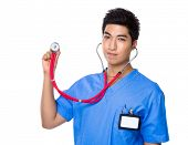 Doctor hold with stethoscope