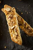Homemade Almond Biscotti Pastry