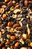 picture of mixed nut  - Raw Organic Homemade Trail Mix with Nuts and Fruits - JPG