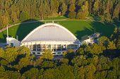 Aerial view of Amphitheater in Vingis Park in Vilnius