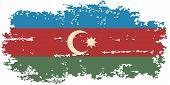 Azerbaijani grunge flag. Vector illustration.