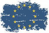 European Union grunge flag. Vector illustration.