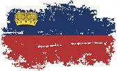 Liechtenstein grunge flag. Vector illustration.