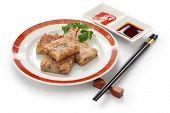 turnip cake, daikon cake, radish cake, carrot cake, chinese new year dim sum dish