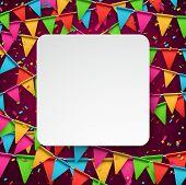 image of confetti  - Colorful celebration background with confetti - JPG