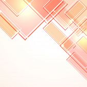 Abstract design in pink color on white background.