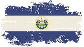 El Salvador grunge flag. Vector illustration.