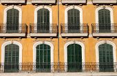 Arched windows with balcony