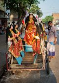 Hindu festival in Kolkata, India.