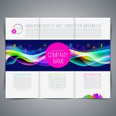 Vector illustration - template page design, brochure, leaflet, with colorful abstract shape and business icon