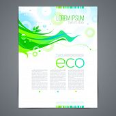 Vector eco template page design with abstract green shape