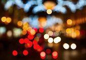 Night lights of the London city