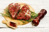 Pork Fillet With Pink Pepper Grain And Rosemary