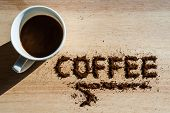 Coffee on a wooden table