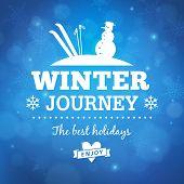 Winter Journey Poster Background
