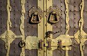 old lock on the vintage style door