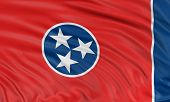 3D Tennessee Flag