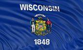 3D Wisconsin  Flag