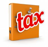 Folder and Tax (clipping path included)