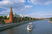 Moscow, view of the Moscow Kremlin and Moscow river