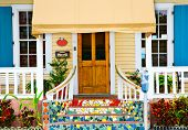 KEY WEST, FLORIDA - MARCH 23, 2009:  This cottage in Key West, Florida is indicative of the colorful style of this town,
