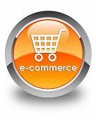 E-commerce Glossy Orange Round Button