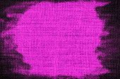 magenta color burlap textured background