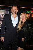 LOS ANGELES - JAN 20:  Chuck Liddell, Heidi Liddell at the