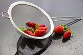 Strawberries In Strainer