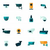 Security Camera Icon Flat