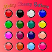 colorful merry cheery shiny buttons