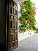 Doorway at the Palacio de Viana in Cordoba, Spain